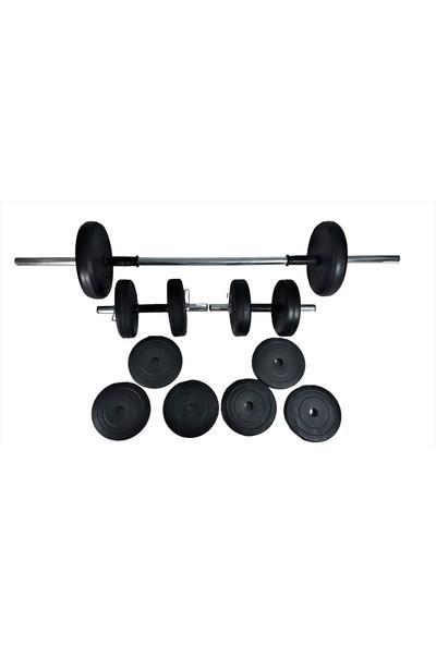 Powerbull Halter Ve Dambıl Seti 50 Kg Fitness Dumbell Vücut Geliştirme Ağırlık Seti