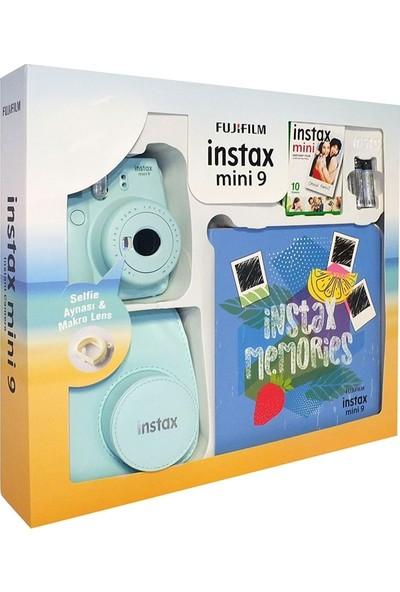 Fujifilm Instax Mini 9 Kit Açık Mavi Seri 2