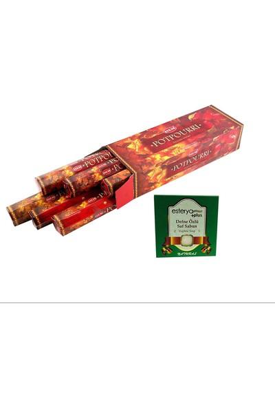 Hem Potpourri 6 Lı Tütsü (120 Adet Çubuk ) ve Esterya Plus Defne Sabunu