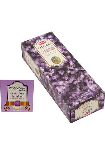 Hem Lavender Lavanta 6 Lı Tütsü (120 Adet Çubuk ) ve Esterya Plus Lavanta Sabunu