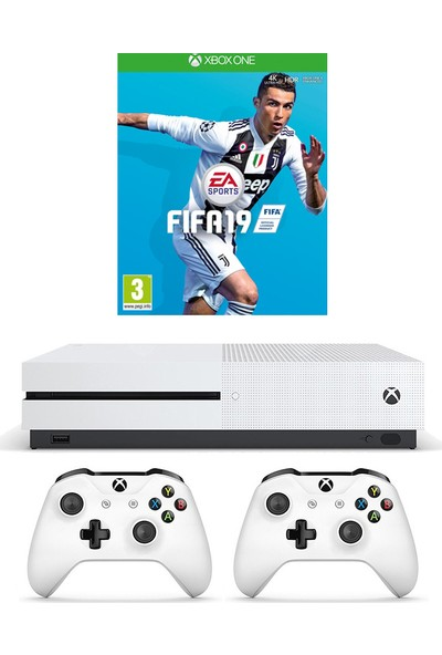 Microsoft Xbox One S 500 Gb Konsol + 2. Kol + Fifa 19 Oyun