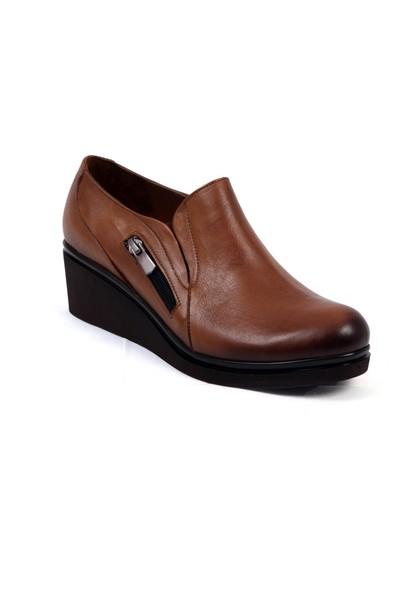 Hakiki Deri Loafer Ortopedik Taban Günlük Kadın Ayakkabı