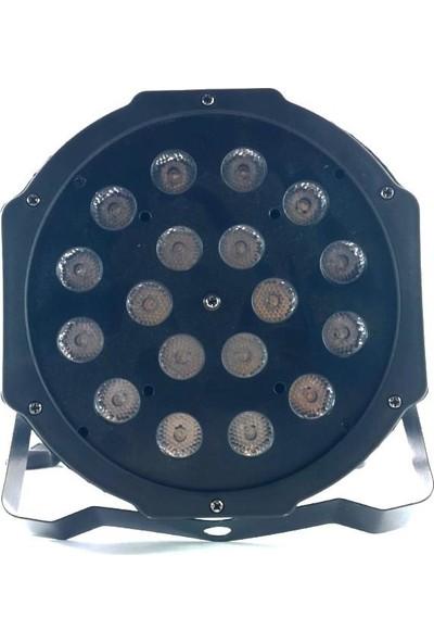 Ludwig 18Li Led Par Çakar Flaşör Fener El Feneri Işıldak Sahne Vitrin Aydınlatma Robot Işık Robotu