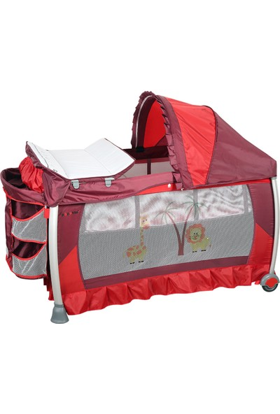 Papetto Op08-Alüminyum Oyun Parkı 76x120 - Kırmızı