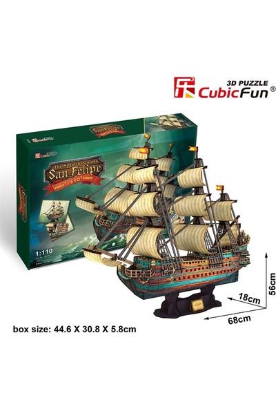 Cubic Fun 3D 248 Parça Puzzle San Felipe