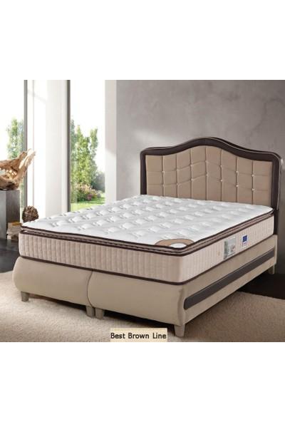Sleep Comfort Best Brown Line Yatak Baza Başlık Set 90x200