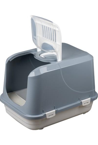Çınar Büyük Kedi Kapalı Tuvalet Kabı Xx Boy Kürekli Plastik Paspaslı
