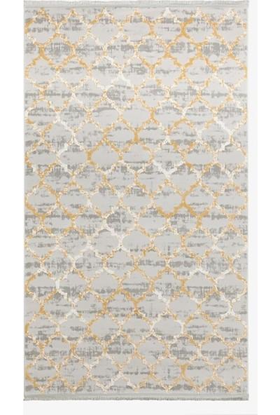 Hepsi Home Geometrica 35029A Sarı Akrilik Halı 100 X 200 Cm