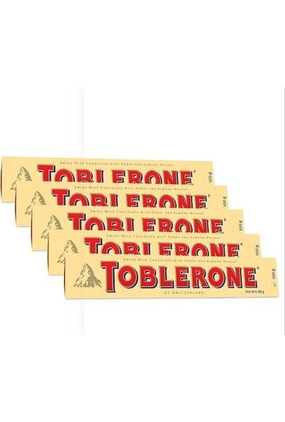 Toblerone Sütlü 100 gr 5'li Set
