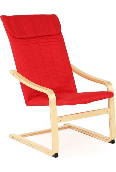 Hepsi Home Relax Tv ve Dinlenme Koltugu - Kırmızı