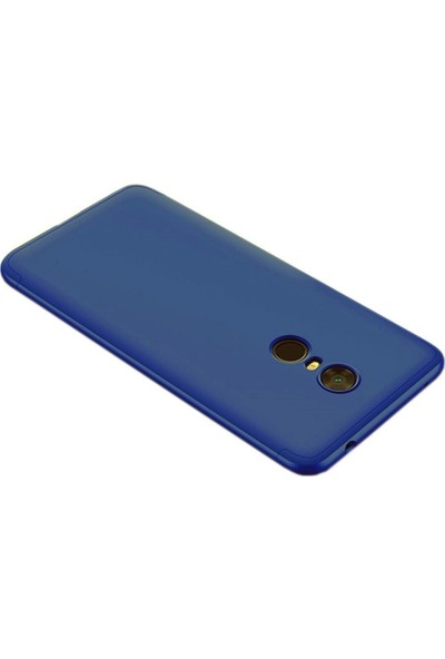 Smody Xiaomi Redmi 5 Plus Kılıf 360 Tam Koruma Mat Plastik + Nano Cam