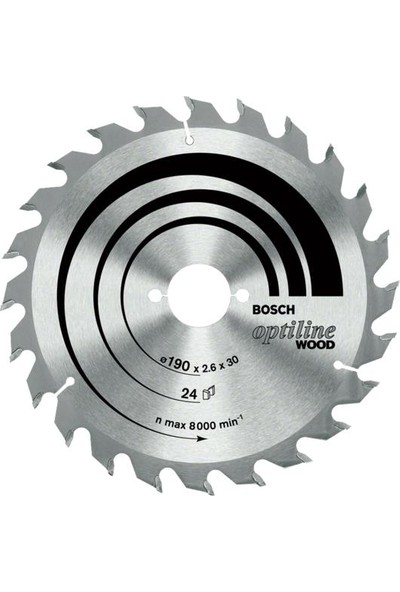 Bosch Optiline Daire Testere 165x30mm 36 Diş