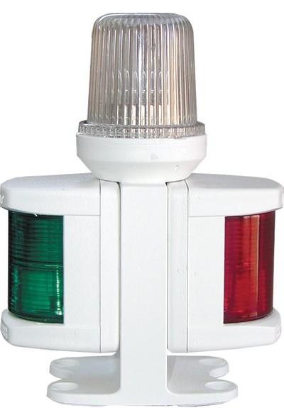 Lalizas Classic 12 Braketli 3lü Seyir Feneri İskele+Sancak+Çapa Feneri Beyaz
