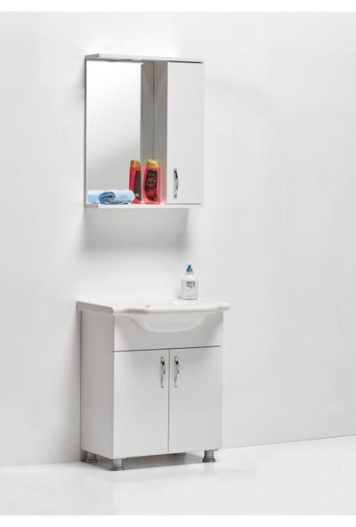 Hepsi Home Saydam Klasik 65 cm Mdf Banyo Dolabı Beyaz