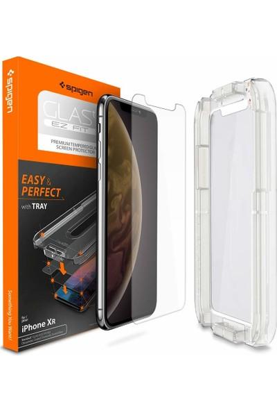 Spigen Apple iPhone 11 / iPhone XR Cam Ekran Koruyucu Kolay Kurulum GLAS.tR EZ Fit Slim HD - 064GL24818
