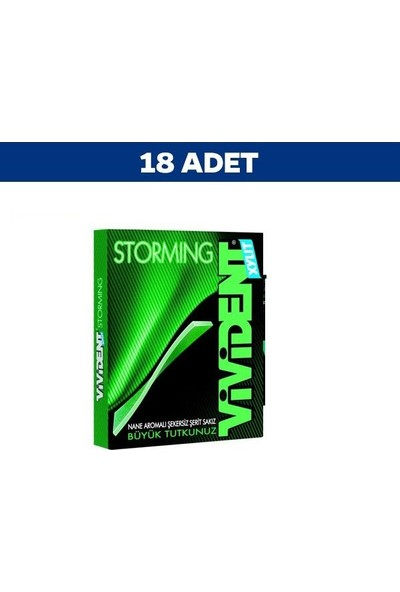 Vivident Nane Aromalı Storming 12Li Sakız 33 gr x 18'li