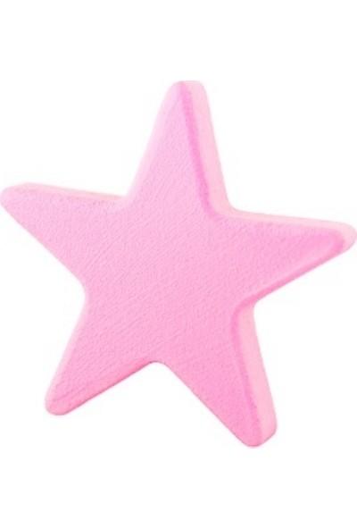 Kralkulp Yıldız Kulp Modeli, Bebek Ve Çocuk Odası Kulp 4 Adet Bebek Pembesi