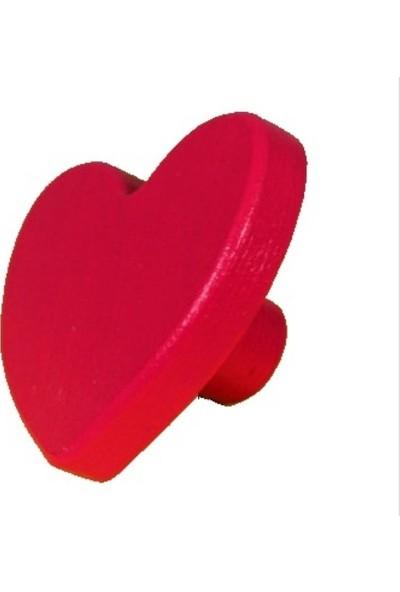 Kralkulp Kalpli Kulp Modeli, Bebek Ve Çocuk Odası Kulp 4 Adet Kırmızı