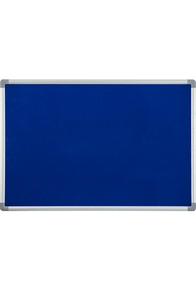 İnter Mantar Pano Mavi Çuhalı Lüx Alüminyum Çerçeveli 90x120 Duvara Monte INT-558-M