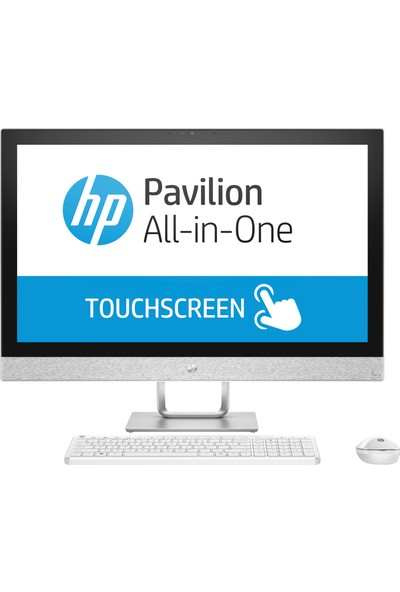 "HP Pavilion 27-r103nt Intel Core i7 8700T 16GB 512GB SSD Radeon 530 Freedos 27"" All In One Bilgisayar 4GT13EA"