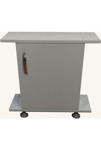 Kanki Pet Akvaryum Beyaz Sehba 65 Cm Düz (65x26x67)