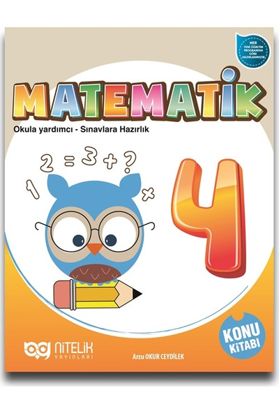 Nitelik Yayınları 4. Sınıf Matematik Konu Kitabı - Arzu Okur Ceydilek