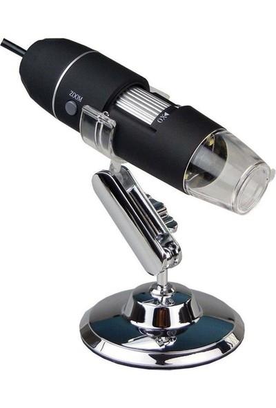 Booyse 1000X 2MP Dijital Taşınabilir Standlı 8 Ledli Usb Mikroskop