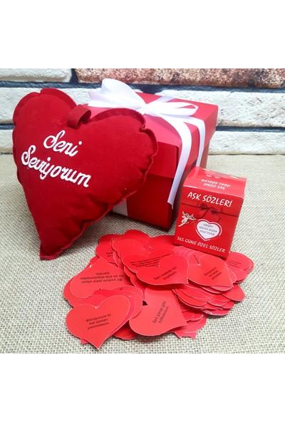E-Hediyeci Seni Seviyorum Yastıklı Romantik Hediye Kutusu