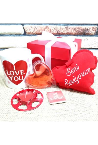E-Hediyeci Sevgiliye Kalp Temalı Özel Hediye Kutusu - H6