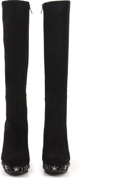 Rouge Siyah Süet 394-08 Kadın Ayakkabı