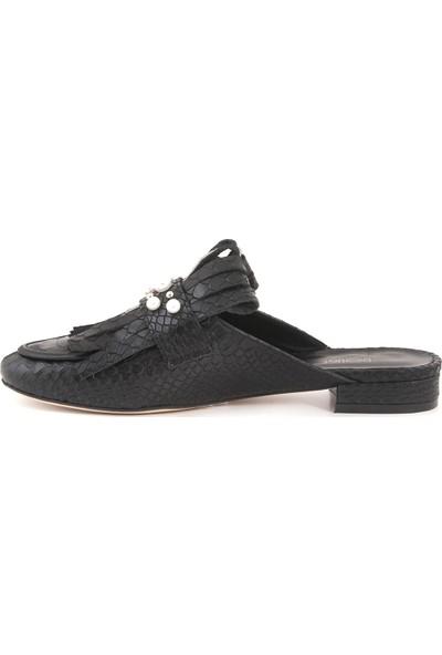 Rouge Siyah Yilan 18Y-6521 Kadın Ayakkabı