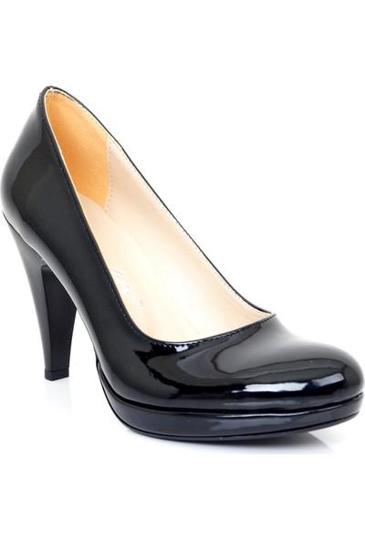 Ayakkabı Tarzım Siyah Platform Kısa Topuklu Kadın Ayakkabı ALCK00252