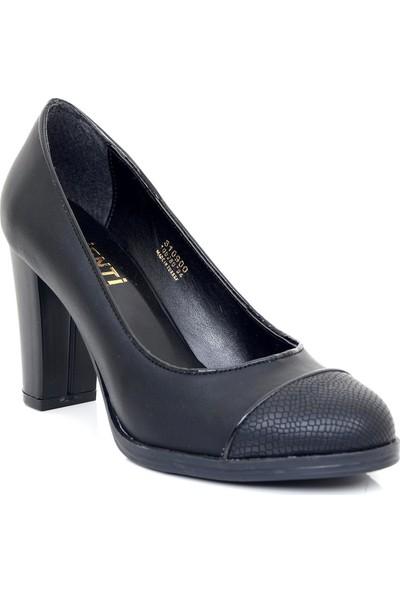 Ayakkabı Tarzım Siyah Mat Topuklu Kadın Ayakkabı VNT00236