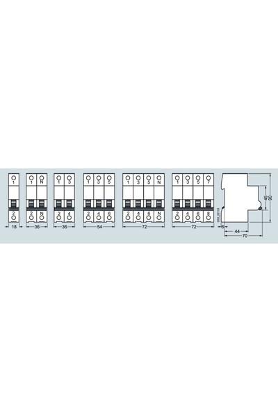 Siemens 5Sl6310-7Ya 3 Fazlı 10A C Tipi (Yavaş Karakterli) 6Ka Otomatik Sigorta