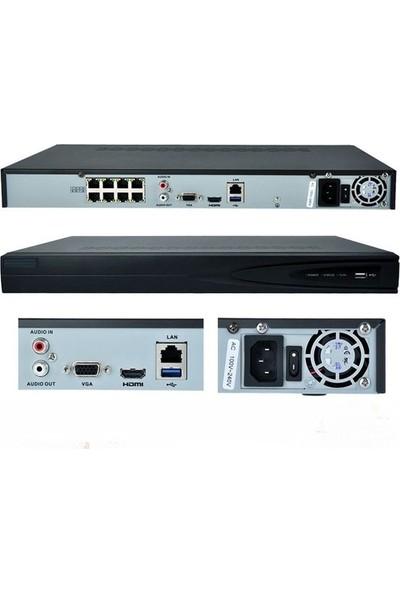 Haikon Ds 7608Nı E2 8 Kanal Vga Hdmı 1920X1080 Real Time Nvr Kayıt Cihazı