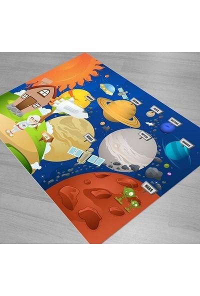 Karnaval Gezegenler Çocuk Odası Halısı
