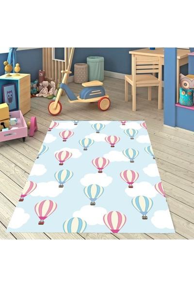 Karnaval Balonlu Çocuk Odası Halısı