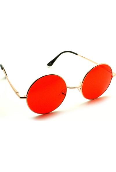 Modaroma John Lennon Kırmızı Unisex Güneş Gözlüğü