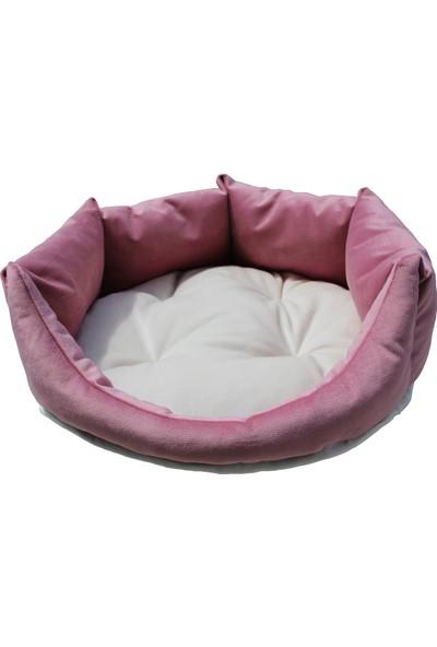 Tulyano Kedi Köpek Yatağı 100*100*25 Cm Pudra