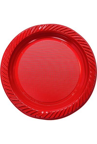 Niceplast Kırmızı Plastik Tabak 10'lu Paket
