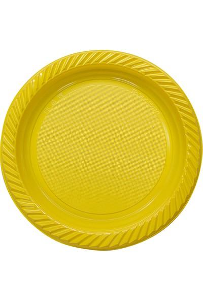 Niceplast Sarı Plastik Tabak 10'lu