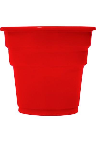 Niceplast Kırmızı Plastik Bardak 25'li Paket