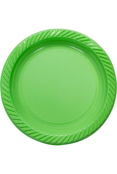 Niceplast Yeşil Plastik Tabak 25'li Paket