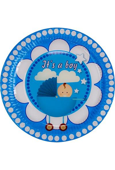 Niceplast Erkek Çocuk Karton Tabak 8'li Paket