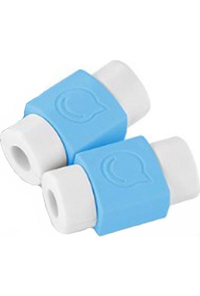 Svsera Universal USB Kablo Koruyucu Mavi