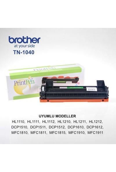 Printpen Brother HL 1110, TN 1040 Siyah Muadil Toner Kartuşu
