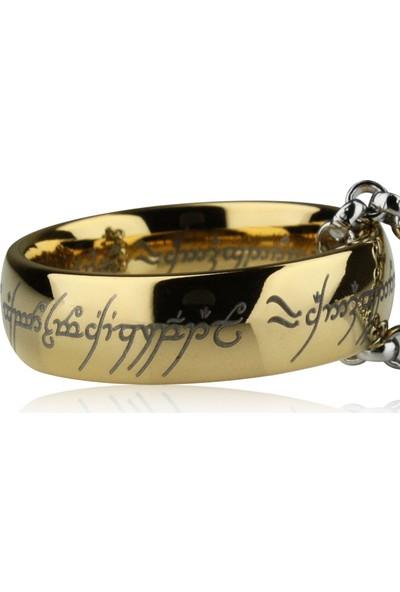 VipBT Lord Of The Rings Güç Yüzüğü Yüzüklerin Efendisi Tungsten Lotr Cosplay Büyük Yüzük Kolye