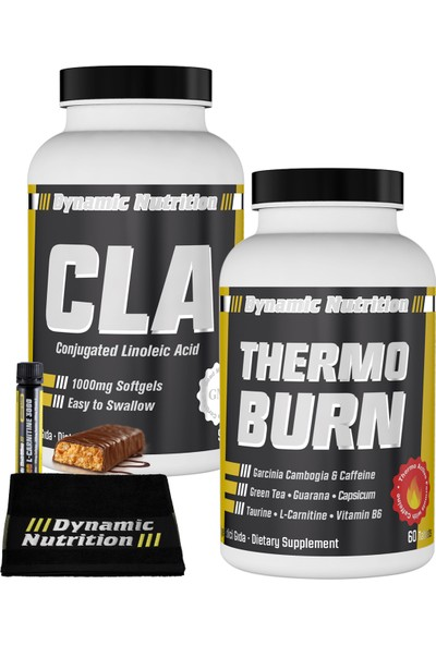 Dynamic Nutrition Thermo Burn 60 tablet + CLA 1000 mg 90 kapsül + 3 HEDİYE