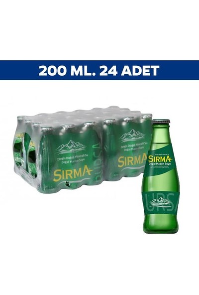 Sırma Sade Soda 200 Ml x 24