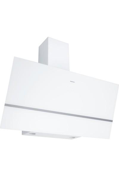 Dominox DPJ 915 V WH Davlumbaz, Beyaz Cam, 90 cm